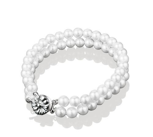 Pearl Double Strand Bracelet
