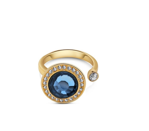 Ring With Montana Coloured Stone