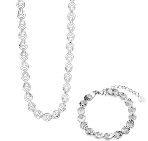 Tear Drop Necklace And Bracelet Set