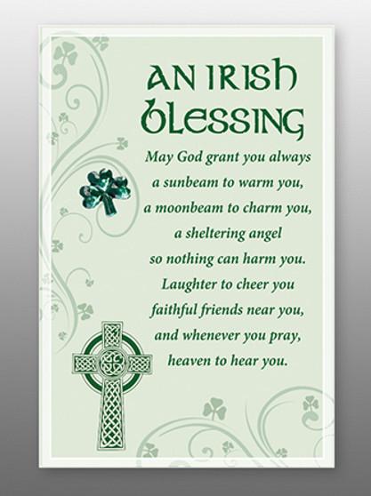 Glass Plaque An Irish Blessing