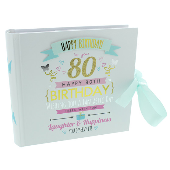 80th Birthday  Pink and Gold Album