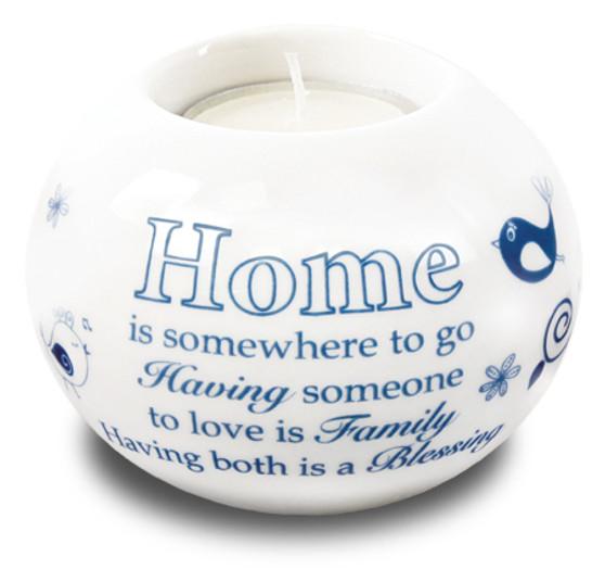 Porcelain Candle Holder/Home Blessing