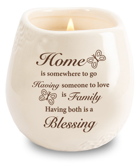 Stoneware Jar/Soy Wax Candle/House Blessing