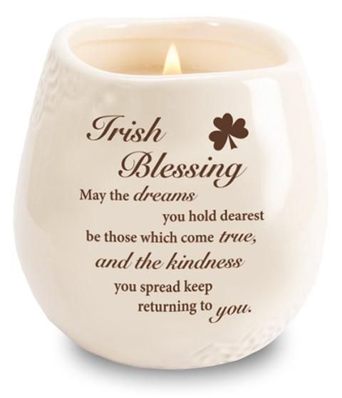 Stoneware Jar/Soy Wax Candle/Irish Blessing