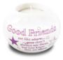 Porcelain Candle Holder/Good Friends