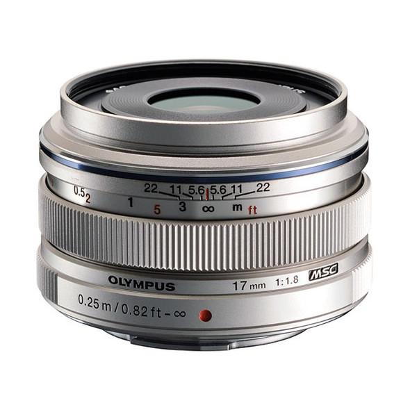 Olympus M.ZUIKO Digital 17mm f/1.8 Lens EW-M1718 Silver