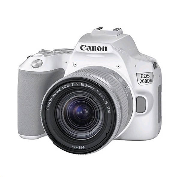 Canon EOS 200D MK II with 18-55mm STM Lens (White)