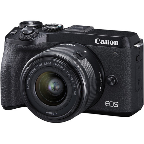 Canon EOS M6 Mark II with 15-45mm Lens (Black)