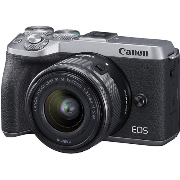 Canon EOS M6 Mark II with 15-45mm Lens (Silver)