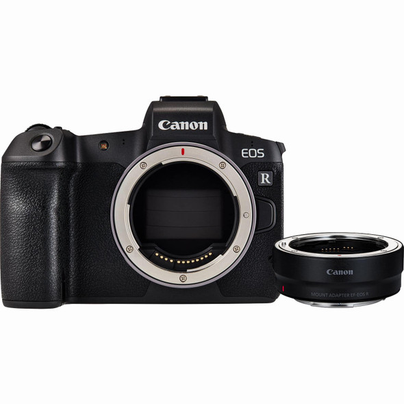 Canon EOS R (Body) (with R Mount Adapter)