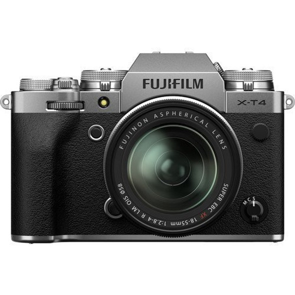FUJIFILM X-T4 with 18-55mm Lens (Silver)