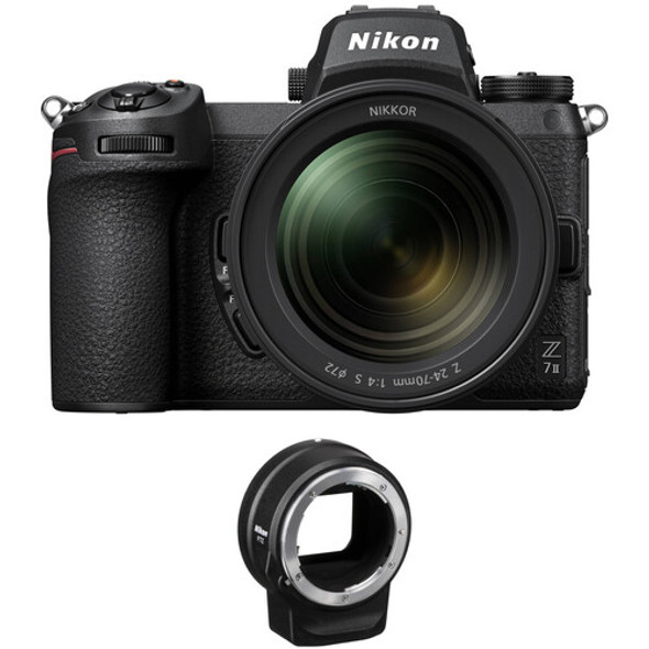 Nikon Z 7II Mirrorless Digital Camera with 24-70mm f/4 Lens (with FTZ adapter)