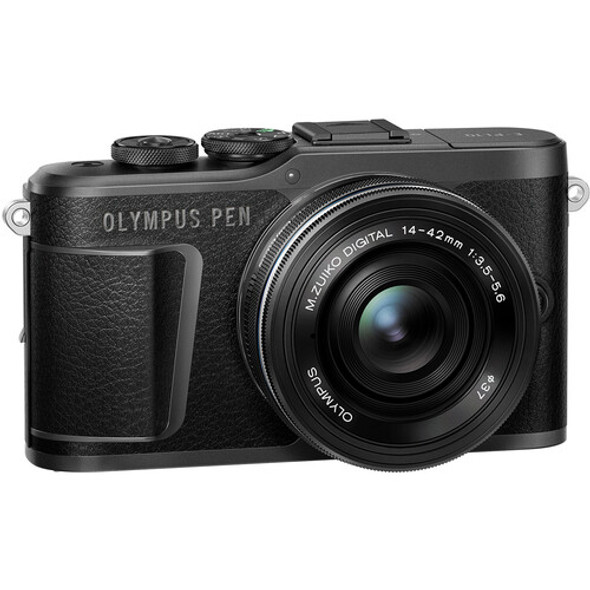 Olympus PEN E-PL10 with 14-42mm and 40-150mm Lenses (Black)