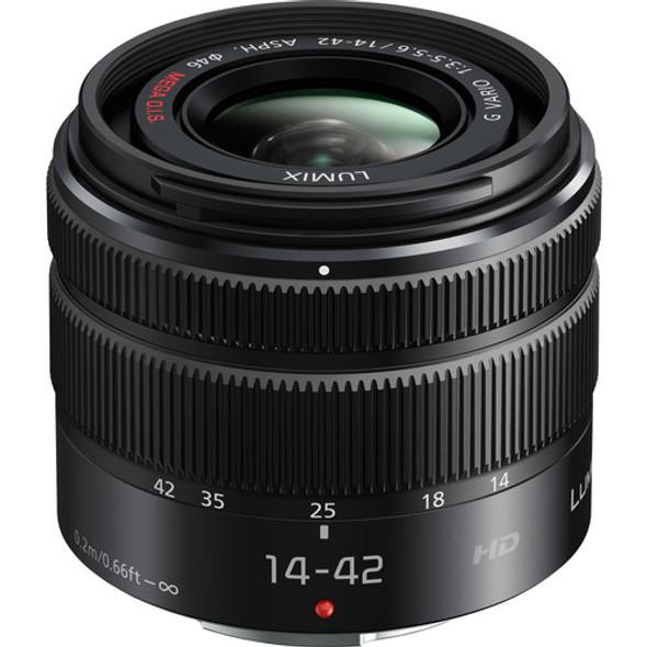 Panasonic Lumix G Vario 14-42mm f/3.5-5.6 II ASPH. MEGA O.I.S. Lens HFS1442A (Black)
