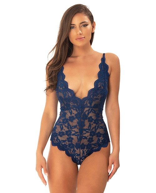 Cortney Floral Lace Romper