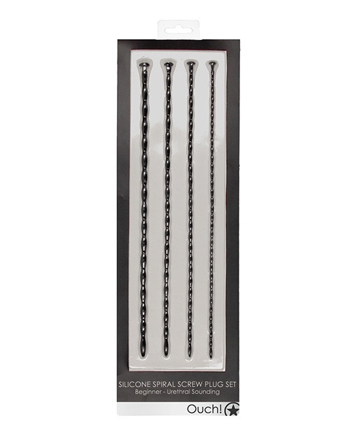 Ouch! Silicone Spiral Screw Urethral Sounding Plug Set