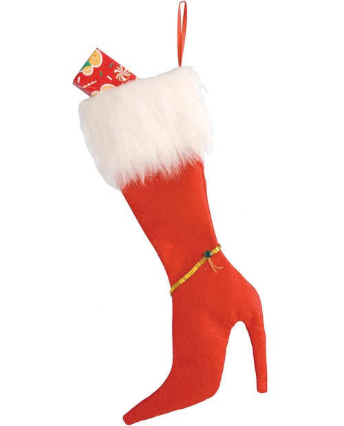 High Heel Christmas Stocking