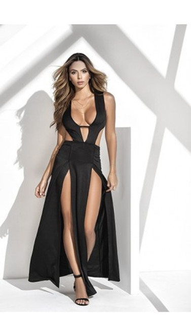 Plunging Slit Gown