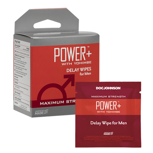 Power +  Delay Wipes with Yohimbe