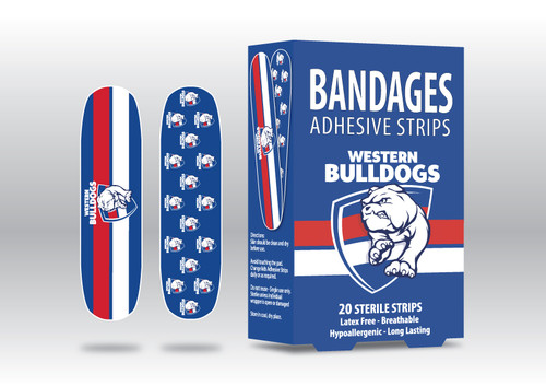 Western Bulldogs Bandages 20 Pack