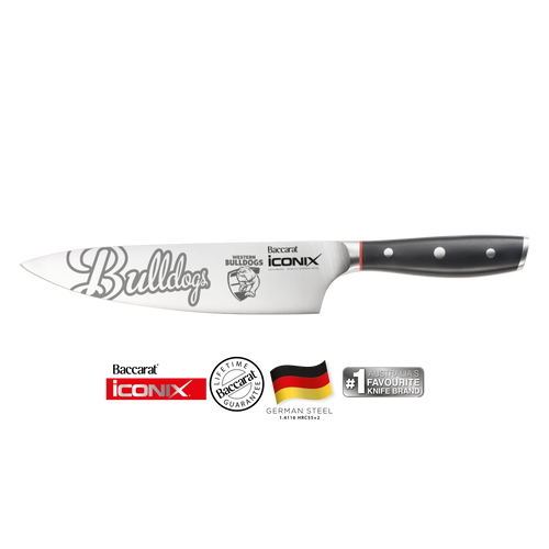 Western Bulldogs Baccarat Iconix Chefs Knife 20cm