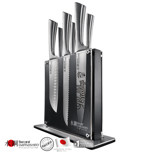 Western Bulldogs Baccarat Damashiro Kin 7 piece Knife Block
