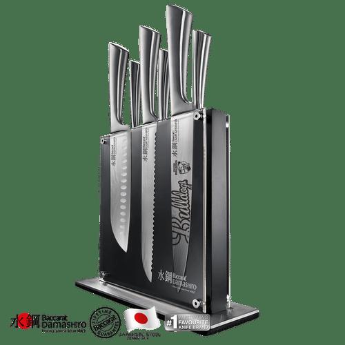 Western Bulldogs Baccarat Damashiro Kin 7 piece Knife Block