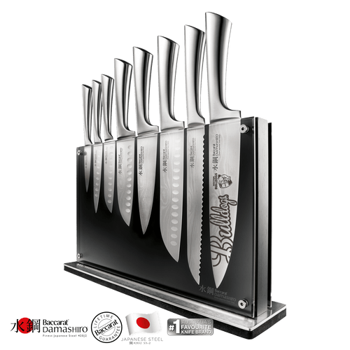 Western Bulldogs Baccarat Damashiro Nami 9 Piece Knife Block