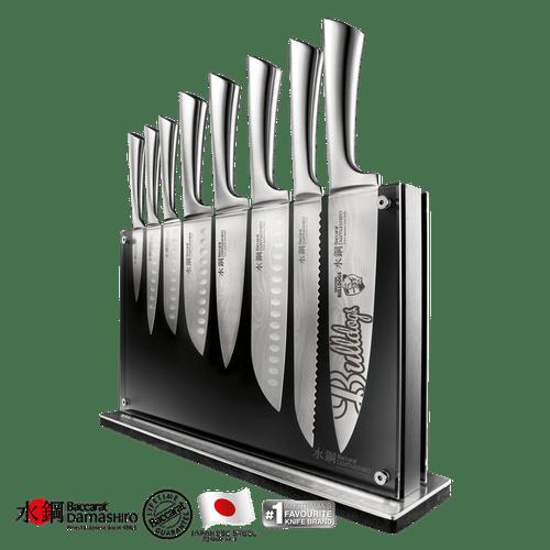 Western Bulldogs Baccarat Damashiro Nami 9 Piece Knife Block