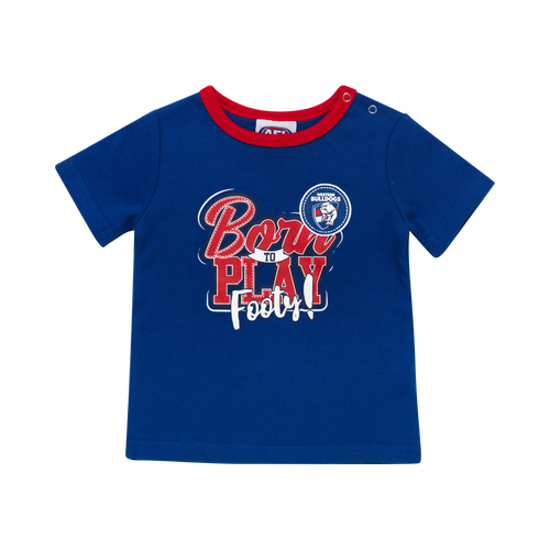 Western Bulldogs Baby 'Born To Play' Tee
