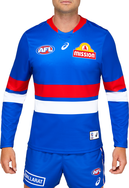 2021 Asics Western Bulldogs L/S Home Guernsey - Adult