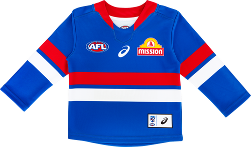 2021 Asics Western Bulldogs L/S Home Guernsey - Infant