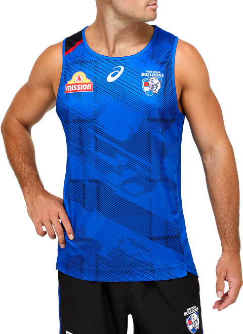 2021 Western Bulldogs Asics Training Singlet