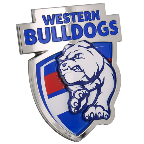 Western Bulldogs 3D Chrome Supporter Emblem