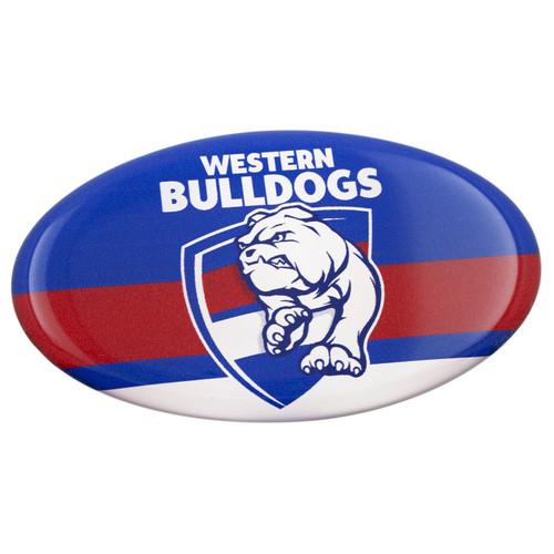 Western Bulldogs Lensed Chrome Oval Logo Sticker
