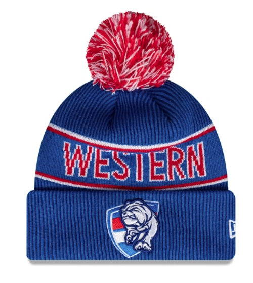 Western Bulldogs 2021 New Era Authentic Pom Pom Beanie