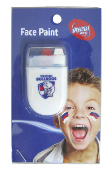 Western Bulldogs Stripe Face Paint