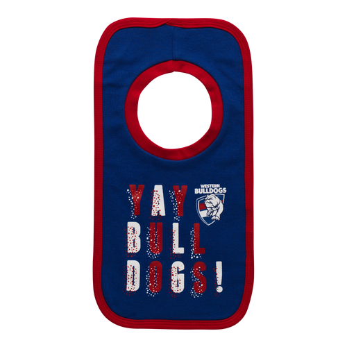 Western Bulldogs 'YAY' Bib Set