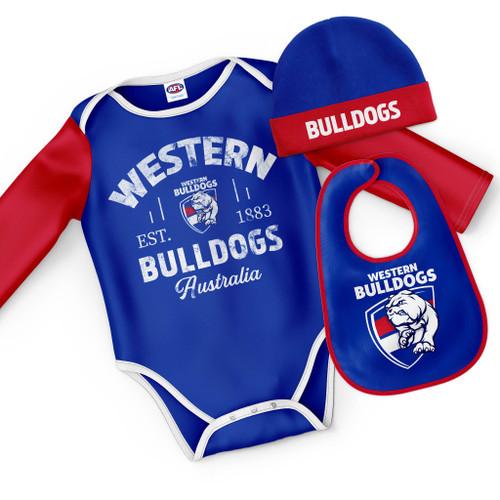 Western Bulldogs Baby Bodysuit Gift Set