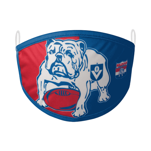 Western Bulldogs Retro Face Mask 2 Pack - Adult