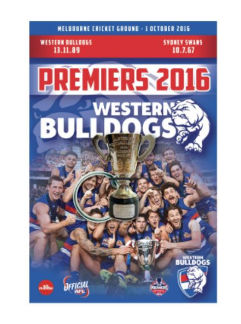 Western Bulldogs 3D Premiers Keyring - 2016