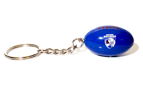 Western Bulldogs Ball Keyring
