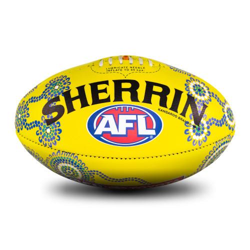 AFL 2021 Indigenous Match Ball - Yellow