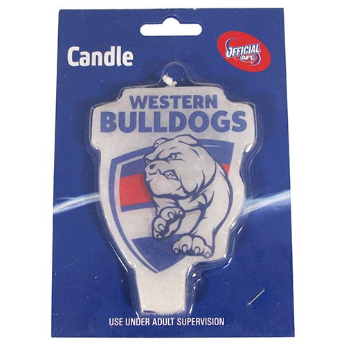 Western Bulldogs Logo Candle