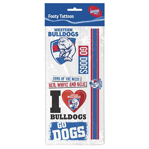 Western Bulldogs Tattoo Sheet
