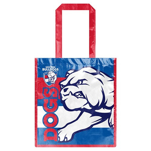 Western Bulldogs Laminated Shopping bag