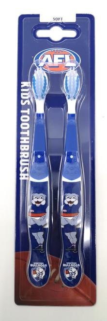Western Bulldogs Mascot Toothbrush 2 Pack