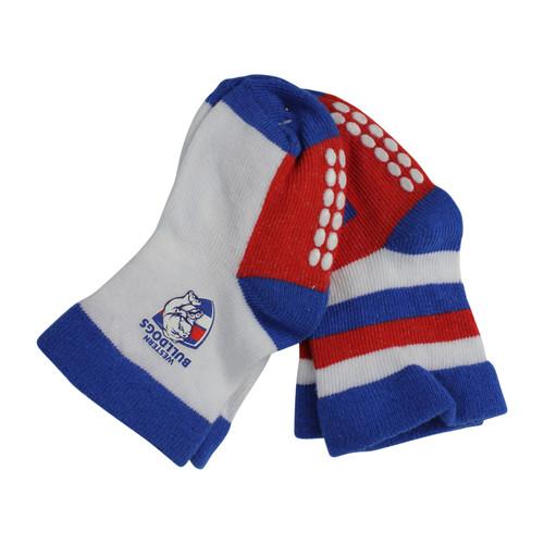 Western Bulldogs Infants Socks 2 Pack