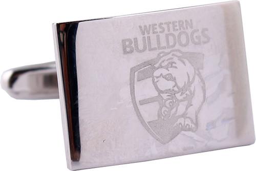 Western Bulldogs Silver Logo Cufflinks