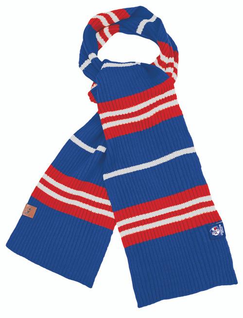 Western Bulldogs Rib Knit Scarf